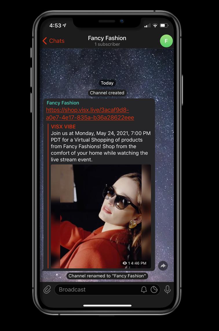 VISX Link Previews | Live stream shopping platform