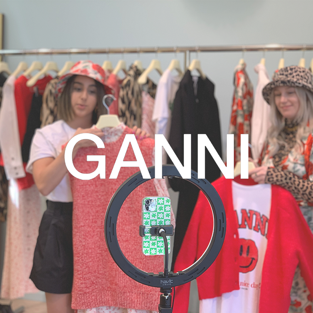 VISX Live | GANNI | Launching New Products On Live Stream